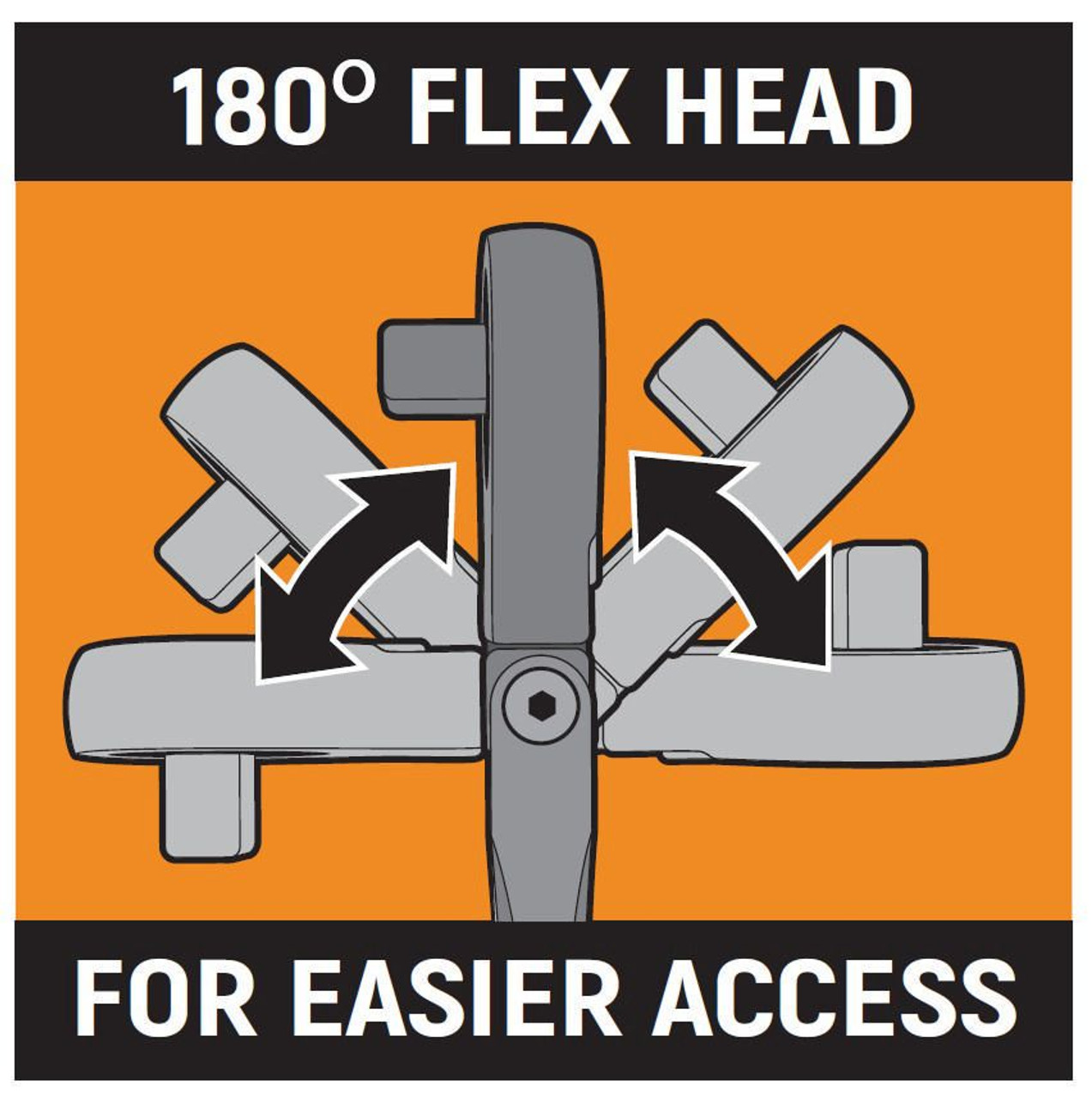Gearwrench 180 degree flex head for easier access