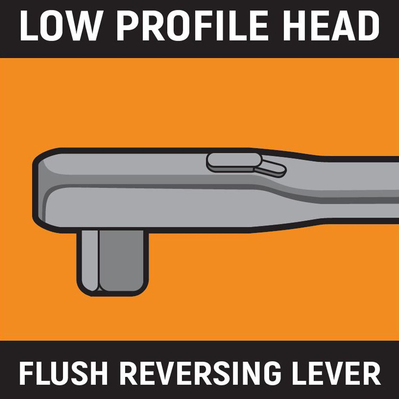 Gearwrench Low profile head flush reversing lever