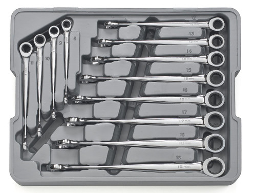 GEARWRENCH 12 PIECE XL X-BEAM RATCHETING COMBINATION METRIC WRENCH SET 85888