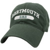 Green hat with 'Dartmouth Dad' across the front in white
