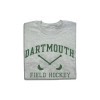 Grey short sleeve tee with 'Dartmouth Field Hockey' across the chest in green