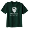 Green short sleeve tee with Geisel Shield and 'Dartmouth Geisel School of Medicine' across the chest in white
