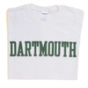 White short sleeve tee with 'Dartmouth' across the chest in green