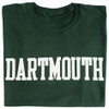 Green short sleeve tee with 'Dartmouth' across the chest in white