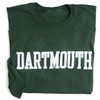 Green long sleeve tee with 'Dartmouth' across the chest in white