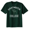 Green short sleeve tee with 'Dartmouth College' and a moose across the chest in white and green