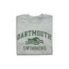 Grey short sleeve tee with 'Dartmouth Swimming' across the chest in green