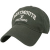 Green hat with 'Dartmouth Skiing' in white across the front