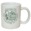 White mug with Dartmouth Shield in green