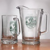 Large glass beer mug with Dartmouth Shield in green