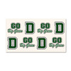Dartmouth game day tattoos with 'Go Big Green' and 'D' in green and white