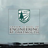 Thayer School of Engineering at Dartmouth decal in green and white