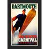 Framed 1938 Ski Winter Carnival Poster