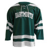 Adult green and white hockey jersey with 'Dartmouth' across the chest in white