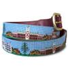 Needlepaint Leather Tab Belt