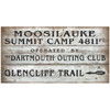 Moosilauke Trail Wood Plank Sign Dartmouth