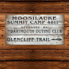 Moosilauke Trail Wood Plank Sign