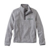 Men's grey LL Bean Pullover fleece with 'Dartmouth' on the right and LL Bean logo at bottom right