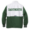 Men's green and white full zip jacket with green 'DARTMOUTH' across back
