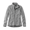 Women's grey LL Bean full zip fleece with 'Dartmouth' on the left in green and LL Bean logo at bottom side