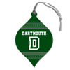 Teardrop Shaped Wood Ornament Dartmouth