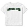 Women's Crop Blockword Dartmouth Tee