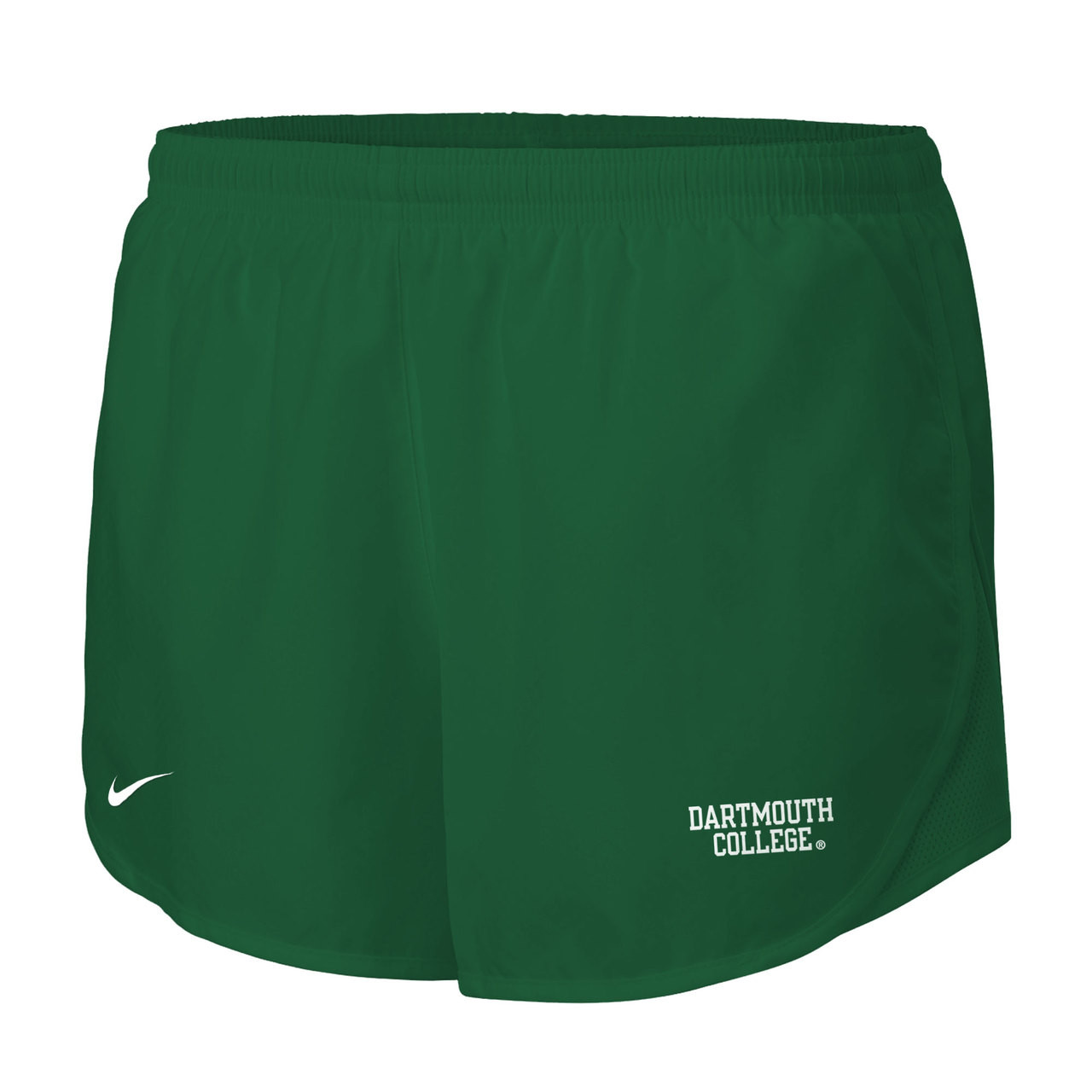 Women s Nike green athletic shorts with white Nike swoosh on the right and   Dartmouth College a09b1f75e