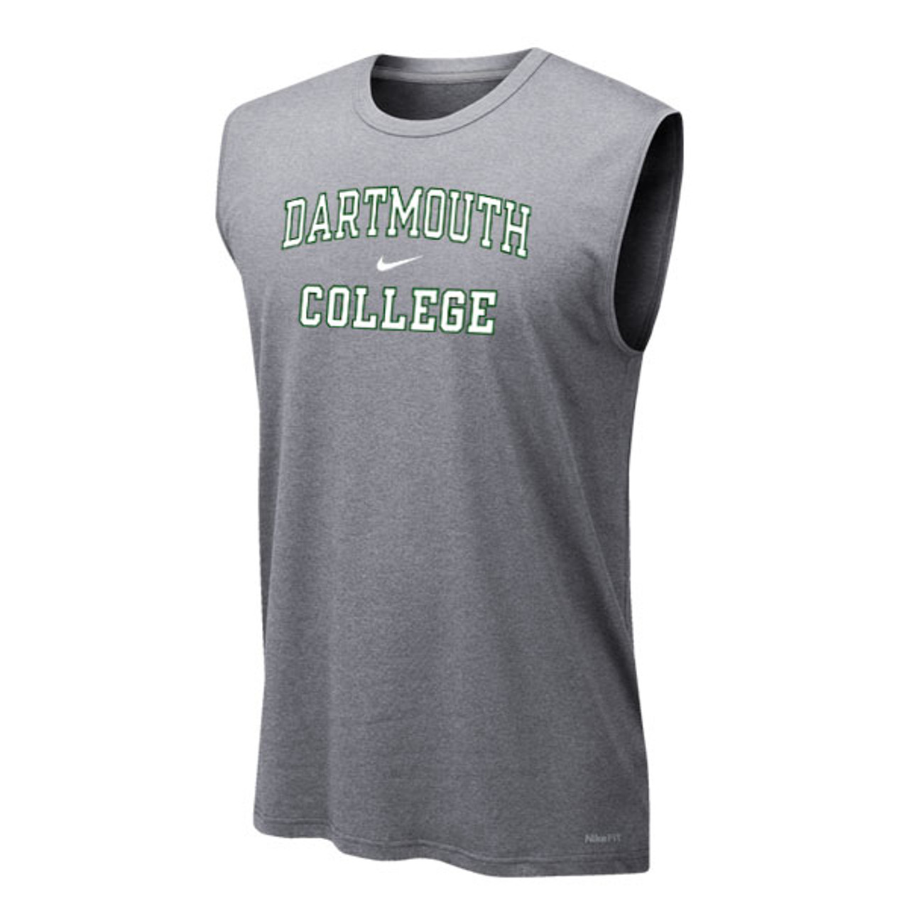 839fd28189952 Men s Nike sleeveless tee with Nike swoosh and  Dartmouth College  across  chest in green