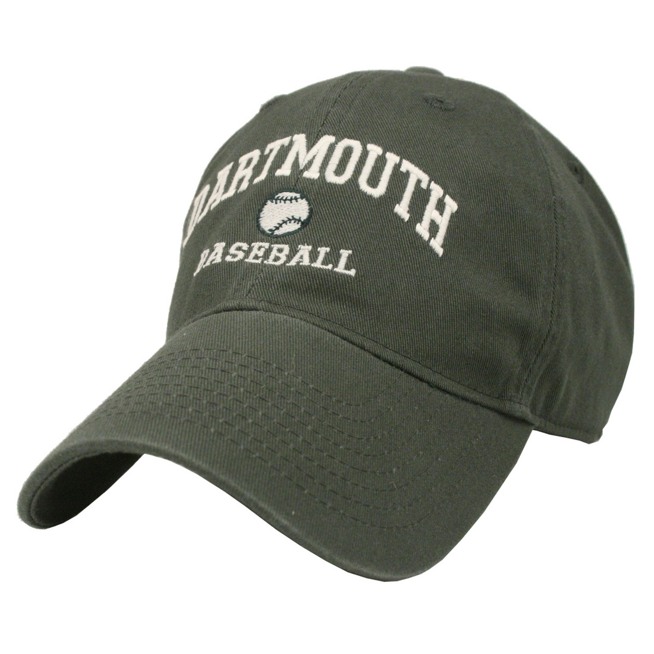 fc7a540e924 Youth green baseball hat with  Dartmouth Baseball  across the middle ...