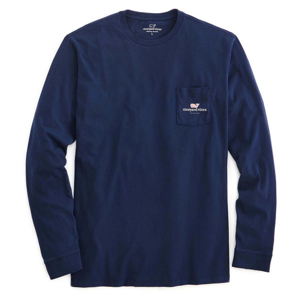 40d236fc Men's blue vineyard vines long sleeve tee with pocket and vineyard vines  logo on left side