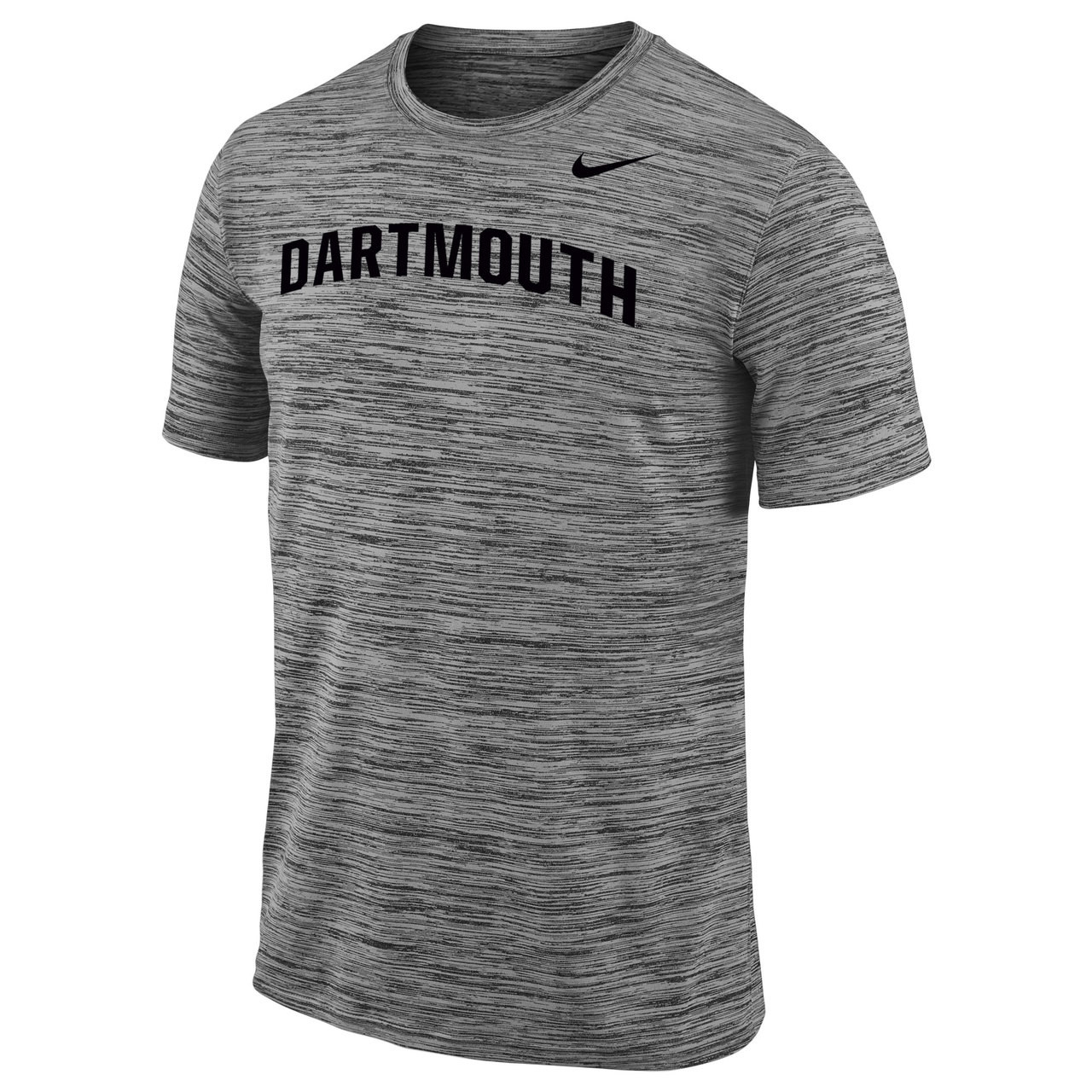 Men s grey Nike short sleeve tee with black Nike swoosh on left and black   Dartmouth d49bb1602fd1