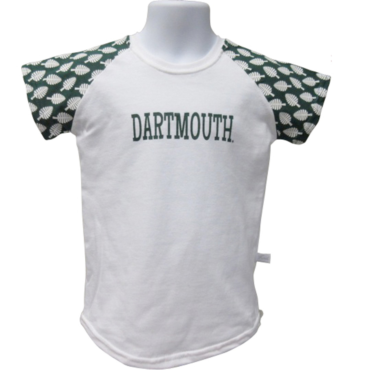5a3d5a09 Girls/Toddlers short sleeve shirt with green and white checkerboard sleeves,  white body and