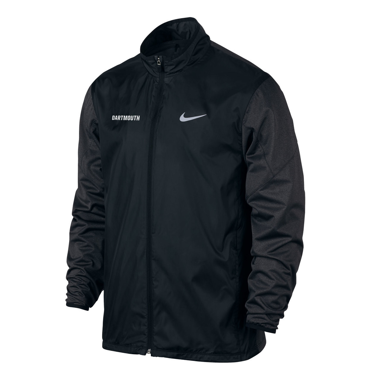 447013a9c70d Nike black full zip windbreaker with small white  Dartmouth  on right side  and small