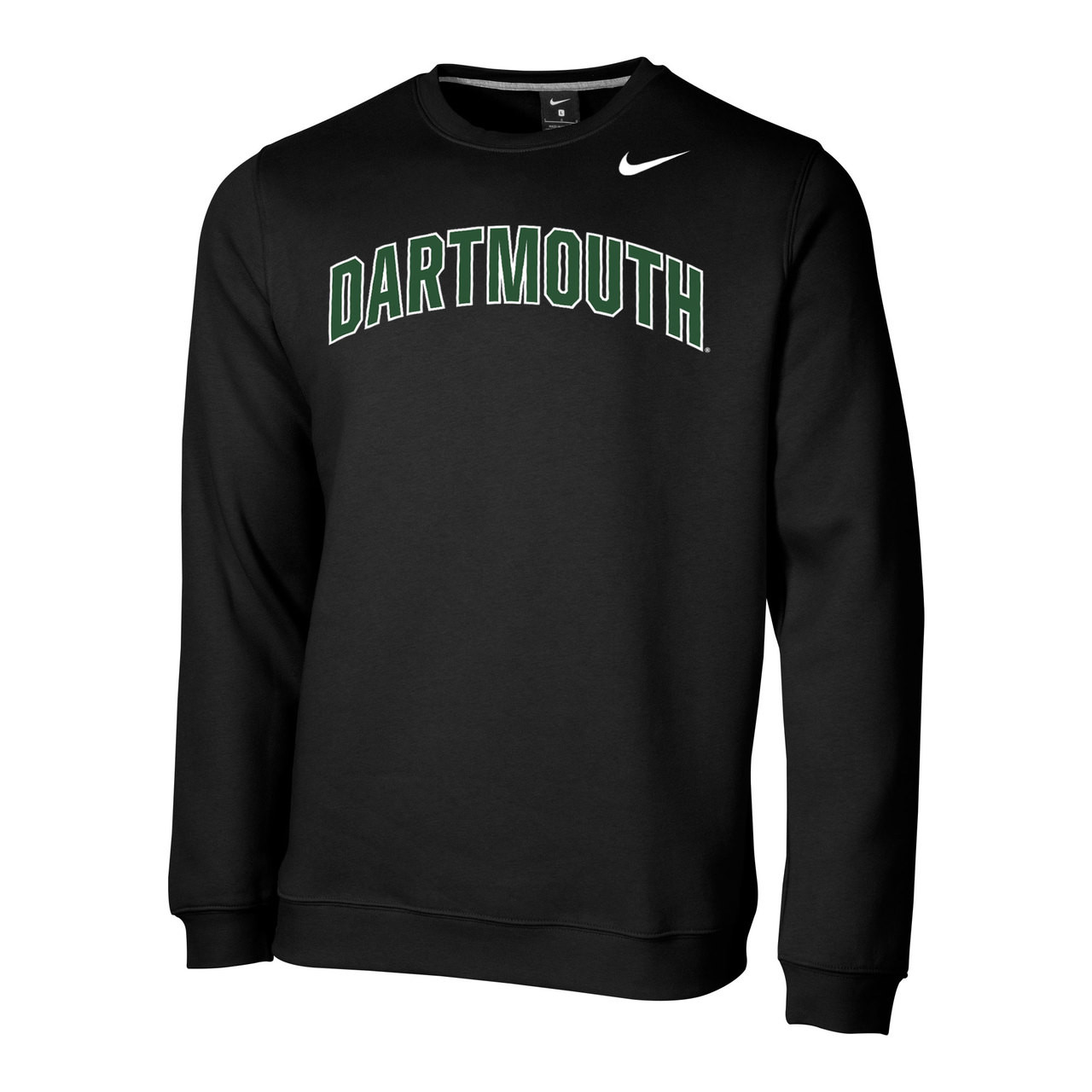 9e4bc1779375 Men s Nike black crew neck sweatshirt with  Dartmouth  across chest in  green and Nike