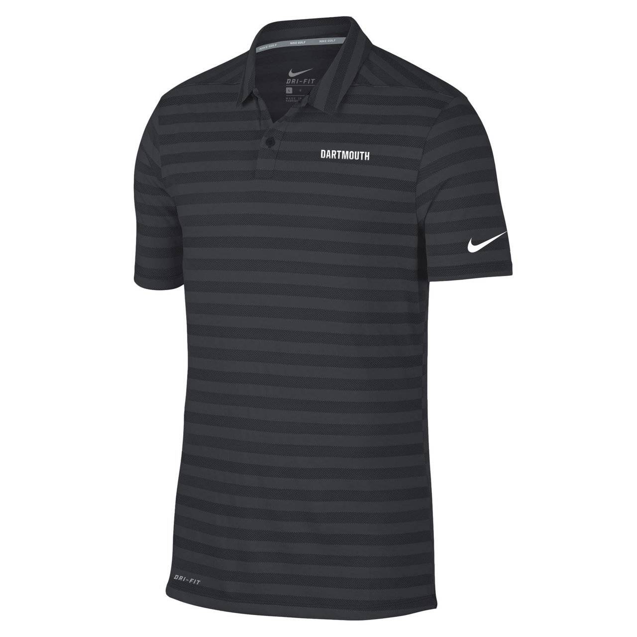 f295ed3b Men's grey and black Nike polo with 'Dartmouth' on the left in white and