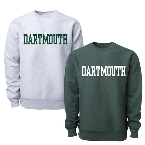 Youth Crewneck Blockword Dartmouth College Sweatshirt