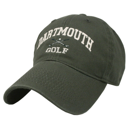 Green hat with 'Dartmouth Golf' in white across the front