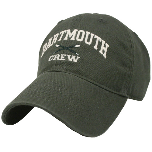 Green hat with 'Dartmouth Crew' in white across the front