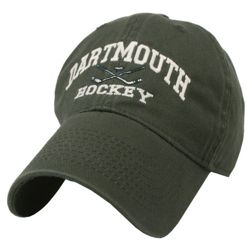 Green hat with 'Dartmouth Hockey' in white across the front