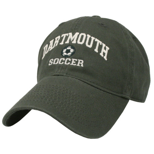 Green hat with 'Dartmouth Soccer' in white across the front