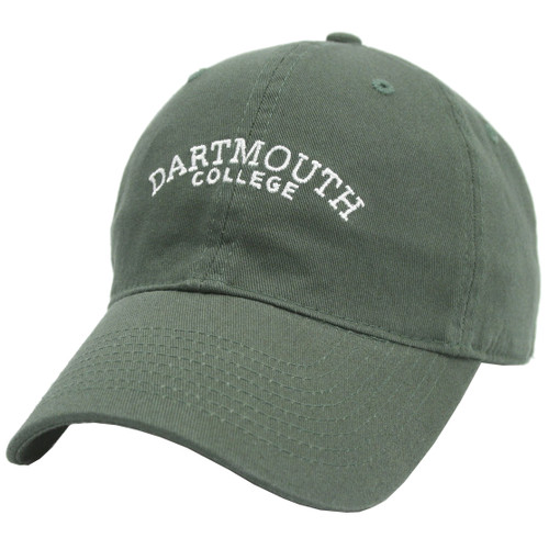 Green hat with 'Dartmouth College' in white across the center