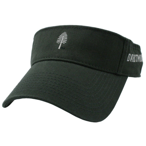 Green visor with white lone pine in the center