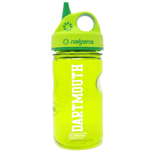 Nalgene sippy cup with 'Dartmouth' in white down the side in either green