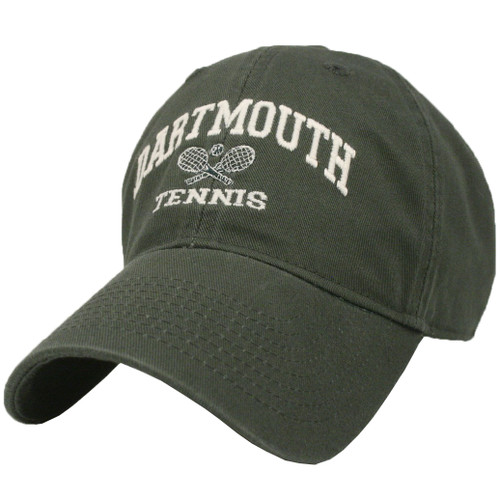 Green hat with 'Dartmouth Tennis' in white across the front