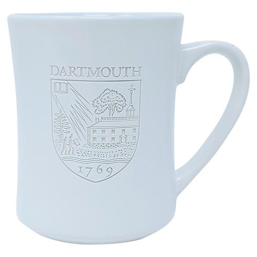 White Etched Shield Mug Dartmouth