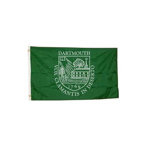 Green flag with Dartmouth Shield in white
