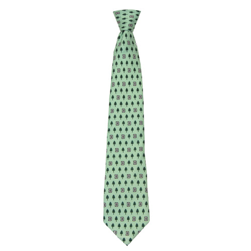 Green Vineyard Vines tie with lone pine logo in green