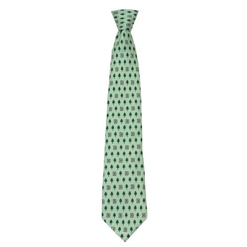 Green Vineyard Vines tie with lone pine logo in green