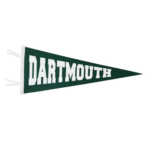 Green large pennant with 'Dartmouth' in white