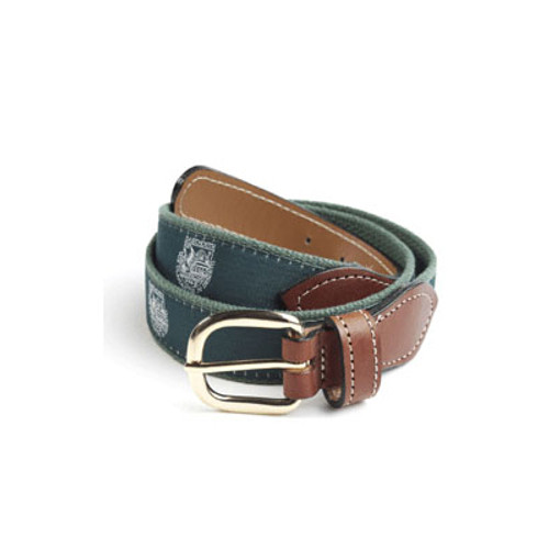 Leather belt with Dartmouth Shield